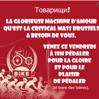 Critical Mass - Friday 29 November - 18.00 Porte de Namur/Naamse Poort