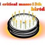 Masse critique de mai 2011: 13ème anniversaire